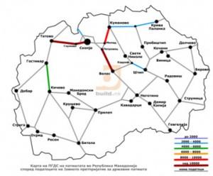 Карта со фреквенција на сообраќај